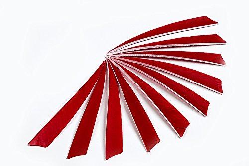 longbowmaker-5-red-shield-shape-natural-feathers-archery-arrow-fletch-fletching-left-wing-30pcs-sfr
