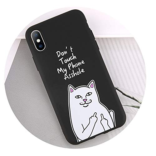 Soft Cat Phone Case for iPhone 7 8 6 6S Plus 5 5S SE XS Max XR X Cartoon Silicone Kuso Protecive Back Phone Case Cover,3796,for iPhone 6 6s