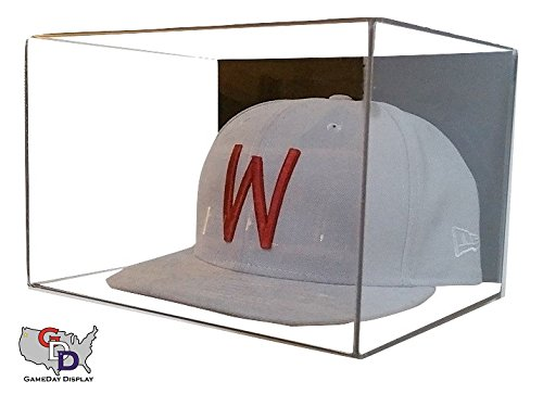 (Acrylic Wall Mount Hat Display by GameDay Display)