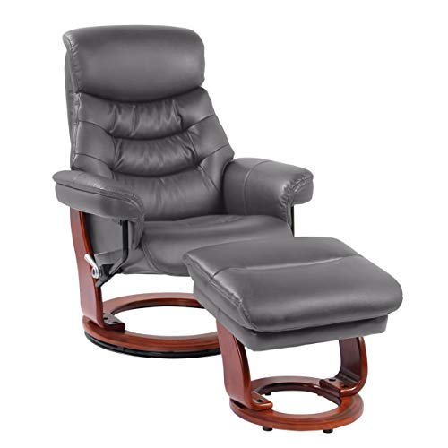 Coja by Sofa4life C-Gre Charles Leather Recliner and Ottoman ()