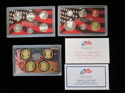 - 2007 S Silver Proof Set 14 Coin Set