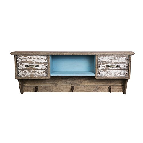Beachcombers SS-BCS-04772 Wood Cabinet/Shelf with Drawers ()