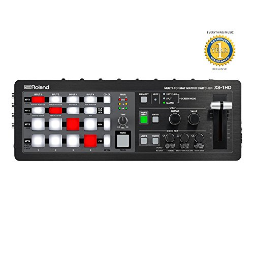Roland XS-1HD Multi-format Matrix Switcher with Microfiber and Free EverythingMusic 1 Year Extended Warranty Digital Matrix Mixer