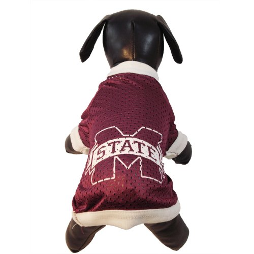 te Bulldogs Athletic Mesh Dog Jersey (Team Color, XX-Small) (Mississippi State Jersey Mesh)