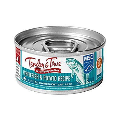 Tender & True Ocean Whitefish & Potato Recipe Canned Cat Food, 5.5 oz, Case of 24