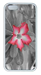 iPhone 5S Customized Unique Landscape Flowers Red Flower 14 New Fashion TPU White iPhone 5/5S Cases by lolosakes