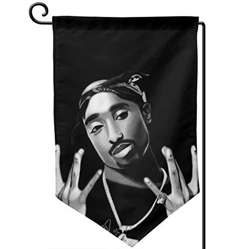Sheridan Reynolds Decorative Garden Flag 12.5x18in Tupac Shakur 2pac Rap Hip Hop Yard Flag Banner for Outside House Flower Pot Double Side ()