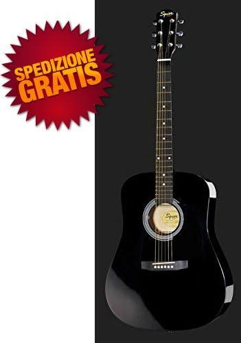 Fender - Guitarra acústica negra de 6 Cuerdas negra + Bolsa + ...