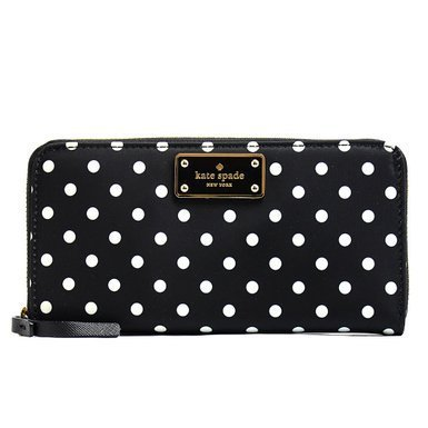 Kate Spade Blake Avenue Neda Polyester Zip Around Wallet (Diamond Dot) by Kate Spade New York