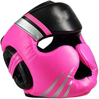 LMCLJJ ヘッドガードスパーリングヘルメットヘッドプロテクターユニセックス帽子を戦うボクシング帽子、合成皮革帽子、 (Size : M)