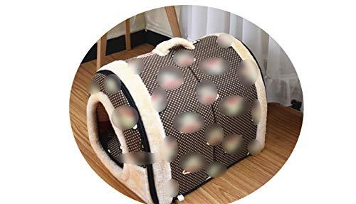 (crazy-shop cat nest pet Bed Pet Supplies Removable and washablecat Litter pet pad Dog cage,Red,60cm-45cm)