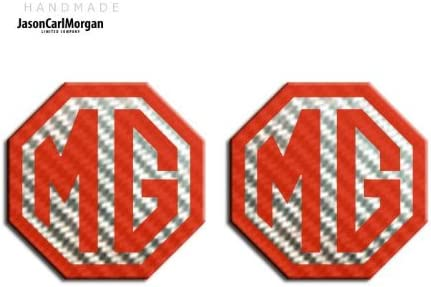 70mm JasonCarlMorgan MG TF LE500 Style Red Carbon Fibre Front and Rear Insert Badges