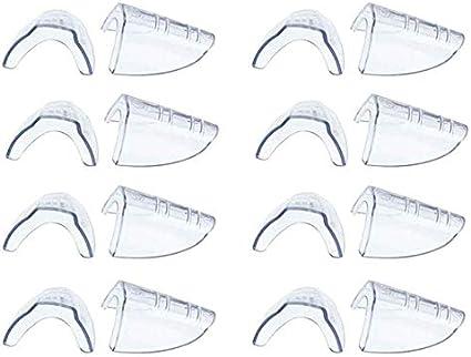 Nrpfell 8 Pares de Anteojos de Seguridad Protectores Laterales, Deslizamiento en Protector Lateral Transparente para Gafas de Seguridad- Adapta a la MayoríA de los Anteojos (M-L)