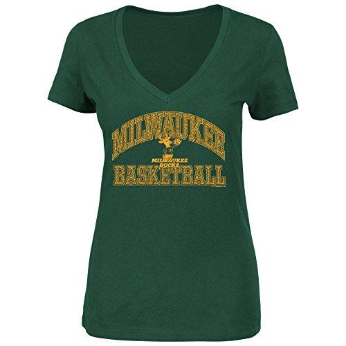 NBA Milwaukee Bucks 1968-93 Women's Sweet Serenade Short Sleeve V-Neck T-Shirt, Green, - Ns Ba
