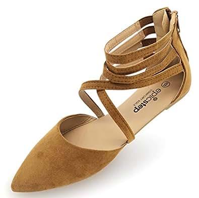 Susan 18 Essentials Women's Ballet Flat (5, Cognac)