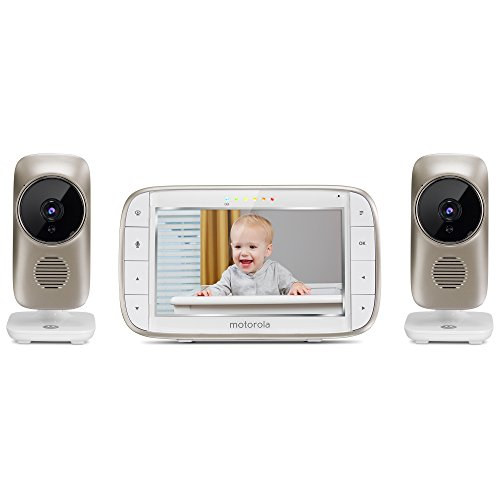 Motorola MBP845CONNECT-2 5'' Video Baby Monitor with Wi-Fi Viewing, 2 Cameras, Digital Zoom, Two-Way Audio, and Room Temperature Display by Motorola Baby