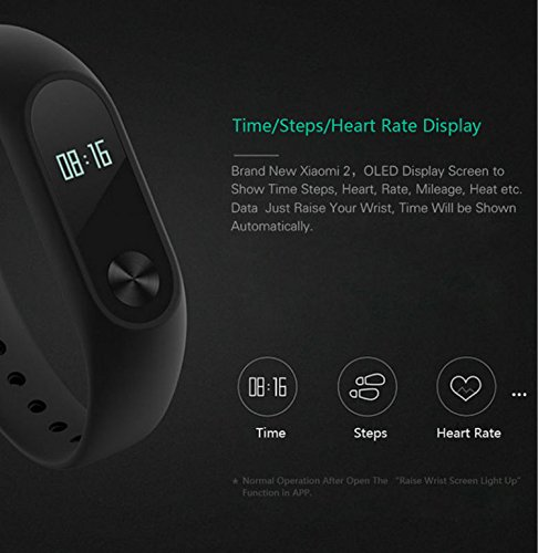 Xiaomi-Mi-Band-2-Smart-Wristband-IP67-Heart-Rate-Monitor-OLED-Display-Anti-perdida-Bluetooth-Bracelet-Negro