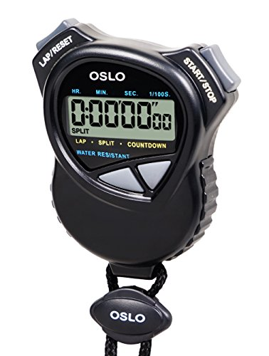 Oslo Stopwatch with Countdown Timer, Black
