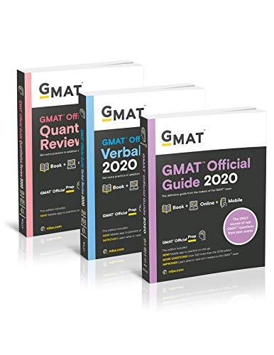 GMAT Official Guide 2020 Bundle: 3 Books + Online Question Bank (Best Gmat Study Guide 2019)