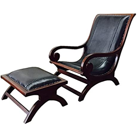 D ART COLLECTION Lazy Lounge Chair With Ottoman Single