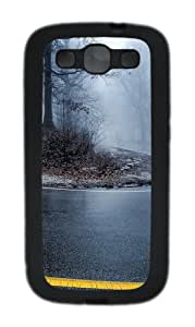 Foggy Road 2 TPU Case Cover for Samsung Galaxy S3 Case and Cover - Black