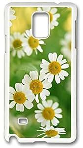 Nature White Daisy Flower Case Cover for Samsung Galaxy Note 4, Note 4 Case, Galaxy Note 4 Case Cover