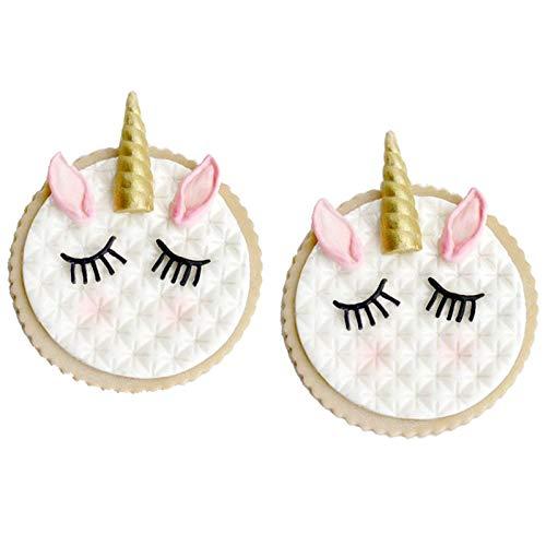Unicorn Ear Eye Horn Silicone Mold Cupcake Decoration Fondant Mold DIY Party Cake Decorating Tool Candy Chocolate Gumpaste Mould