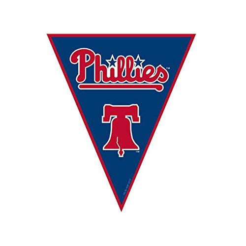 Philadelphia Phillies Red Game (Amscan Timeless Philadelphia Phillies Major League Baseball Pennant Banner, 12', Blue/Red)