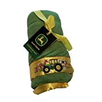 John Deere Fleece Blanket with Embroidered Satin Trim