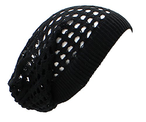 AN Vintage Beanie Black Dreadlock Beanie Hat for Men Women Juniors (Beanie With Dreadlocks)