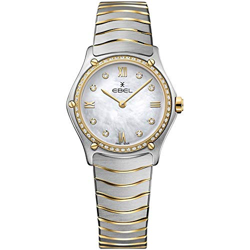 Ebel Women's Sport Classic Diamond 29mm Two Tone Steel Bracelet Steel Case Swiss Quartz Watch 1216390A