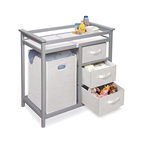 Badger Basket Modern Changing Table Gray Buy Online In