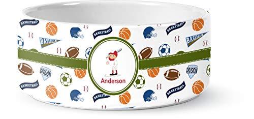 RNK Shops Sports Ceramic Pet Bowl - Large (Personalized)