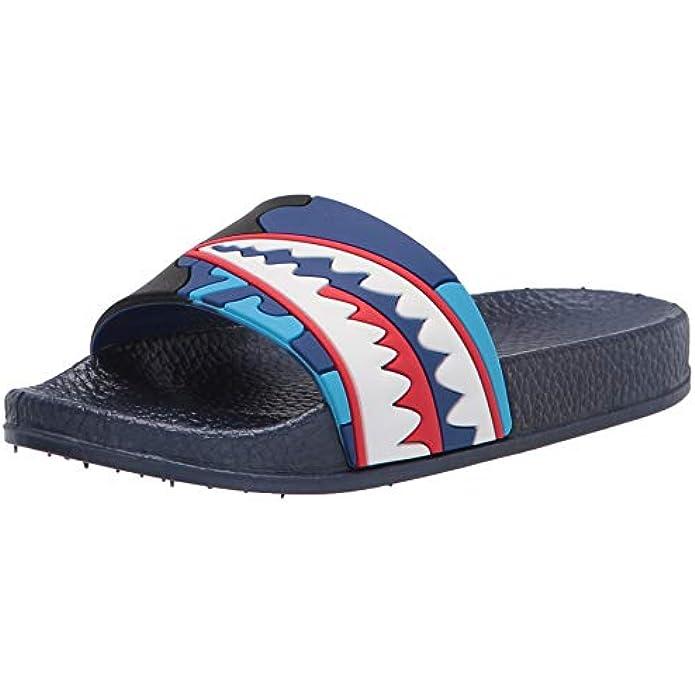 Boys Girls Slide Sandals Anti-Slip Shark Unicorn Slippers Lightweight Todder Water Shoes Beach Pool Kids Shower Home Slippers