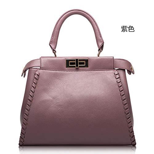 Estados Unidos 2018 Bag de Púrpura Bolso Bolso Bolsos señora Bolso cuero y y Bolsos de de Mochila Europa verano de de de cuero Mochila hombro Messenger mano primavera moda de HRzwAq