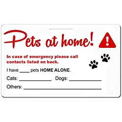 THE TAG GUYS Pet Emergency Contact Card for Animals (Dogs, Cats, Horse etc) [Wallet Size] [USA Company]