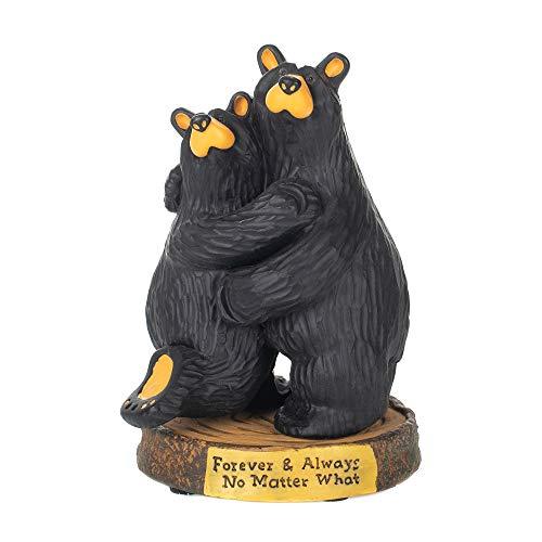 DEMDACO Big Sky BearFoots Forever and Always Wedding Anniversary Black Bear Couple Figurine