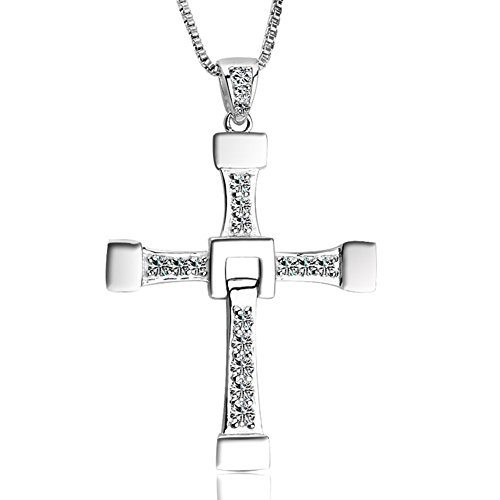 The Fast And The Furious Dominic Toretto'S Titanium Steel Cross Pendant Necklace (Cross)