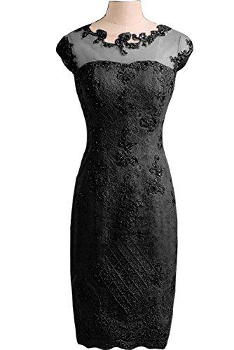 Partykleid Spitze Damen Ivydressing Etui Abendkleid Linie Applikation Tuell Festkleid Liebling Schwarz fHwwI0