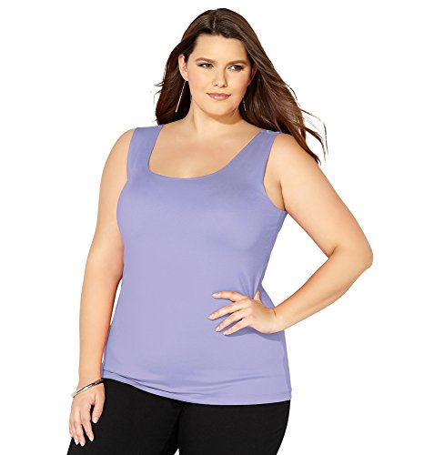 Avenue Women's Fashion Microfiber Tank, 22/24 Blue Purple