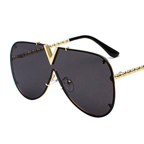 Aoligei Personnalité tendance hommes v européenne lunettes de soleil et lunettes de soleil style américain siamois F