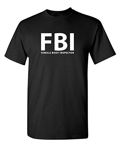 Female Body Inspector Novelty Graphic Sarcastic Funny T Shirt M Black