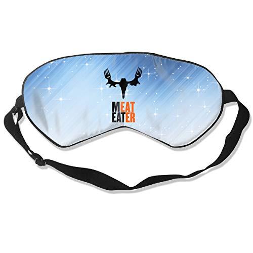 (NCNET 100% Silk Sleep Mask for Women Men,Night Blindfold,Light Blocking,Eye Shade,Sleeping Aid,Adjustable Strap for Travel Nap Shift Work,Meat)
