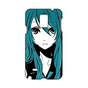 Cool-benz Green hair lovely girl 3D Phone Case for Samsung Galaxy Note4