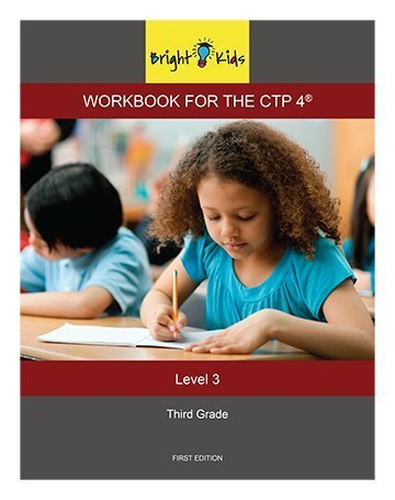 Bright Kids Workbook for the CTP 4 - Level 3 (3rd Grade) by Bright Kids NYC (2014-05-03)