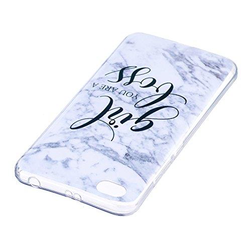 Funda de mármol para Xiaomi Redmi Note 5A, Carcasa Suave TPU Oududianzi Funda de Silicona Flexible Soft Silicone Case Casco Protectora Anti Choque - Niña Girl Boss