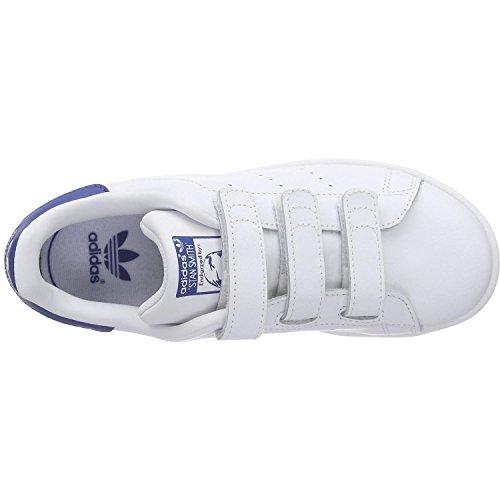 adidas Unisex-Kinder Stan Smith CF C Turnschuhe Weiß (Ftwbla / Ftwbla / Eqtazu)