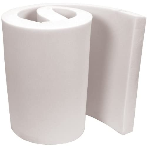 Image of Cushion & Upholstery Foam Air Lite Extra High Density Urethane Foam for Projects, 4 by 36 by 82-Inch, White FOB:MI