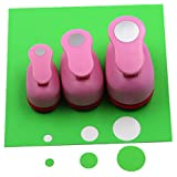 CADY Crafts Punch Set 8mm 15mm 25mm paper punches 3pcs/Set (Circle)