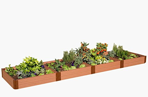 Frame It All 300001402 One-Inch Series Composite Raised Garden Bed Kit, 4' x 16' x - Timber Bed Raised